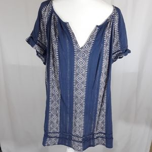 Plus sized Lucky brand tunic top